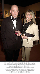 MR & MRS PEREGRINE ARMSTRONG-JONES, he is the half-brother of the Earl of Snowdon,  at a reception in London on 22nd March 2001.	OML 7