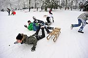 Nederland, Nijmegen, 19-12-2010Sneeuwpret in het Goffertpark.Foto: Flip Franssen/Hollandse Hoogte