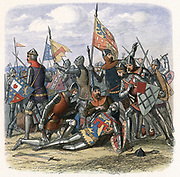 Henry Percy (Harry Hotspur) 1364-1403 killed at the Battle of Shrewsbury, 21 July 1403, where Henry IV was victorious. Colour printed wood engraving c1860.
