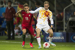 June 20, 2017 - Gdynia, Poland - Gerard Deulofeu of Spain and Kevin Rodrigues of Portugal during the UEFA European Under-21 Championship 2017  Group B match between Portugal and Spain at Gdynia Stadium in Gdynia, Poland on June 20, 2017  (Credit Image: © Andrew Surma/NurPhoto via ZUMA Press)
