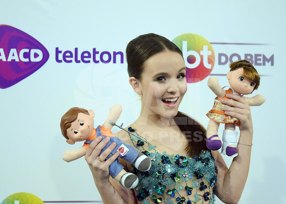 OSASCO,SP 24.10.2015 - TELETON-SP - A atriz-mirim, Larissa Manoela, durante o Teleton 2015 realizado no Estudio 2 do SBT, na noite desse sábado,24.  (Foto: Eduardo Carmim / Brazil Photo Press)
