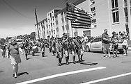 A fife and drum corp marches during the Independence Parade Saturday July 2, 2016 on Beach Avenue in Cape May, New Jersey. Photo by William Thomas Cain/Cain Images