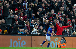 LIVERPOOL, ENGLAND - Sunday, January 5, 2020: Everton's Lucas Digne kicks the electronic advertising hoardings in frustration, leaving damage, during the FA Cup 3rd Round match between Liverpool FC and Everton FC, the 235th Merseyside Derby, at Anfield. Liverpool won 1-0. (Pic by David Rawcliffe/Propaganda)
