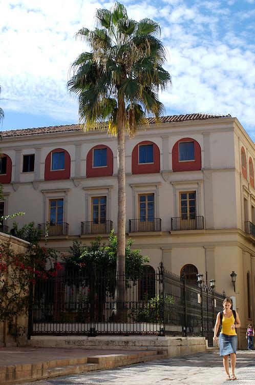 Street scene in Malaga on the Costa del Sol, Spain