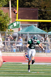 17 September 2011: Alex Garvey during an NCAA Division 3 football game between the Aurora Spartans and the Illinois Wesleyan Titans on Wilder Field inside Tucci Stadium in.Bloomington Illinois.