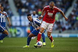 Beram Kayal of Brighton & Hove Albion puts Pajtim Kasami of Nottingham Forest under pressure - Mandatory by-line: Jason Brown/JMP - 12/08/2016 - FOOTBALL - Amex Stadium - Brighton, England - Brighton & Hove Albion v Nottingham Forest - Sky Bet Championship