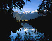 Lake Matheson and the Southern Alps, South island, New Zealand. 1999