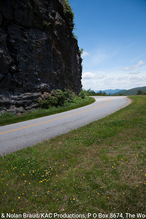 Driving the Blue Ridge Parkway (a National Park as well as a premier scenic highway) is an amazing experience. This is a section of the parkway in North Carolina southwest of Asheville, in the Pisgah National Forest area.