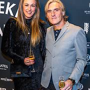 NLD/Amsterdam/20191114 - Uitreiking Esquires Best Geklede Man 2019, Annemieke Schollaardt en partner Phil Tilli