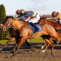 Shaolin and George Baker winning the 2.00 race