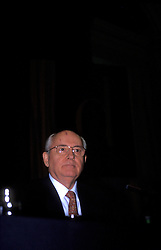 UK ENGLAND LONDON NOV96 - Former president of the Soviet Union Mikhail Gorbachev speaks during the launch of his memoirs in Westminster Hall, London.....jre/Photo by Jiri Rezac ....© Jiri Rezac....© All images Jiri Rezac 1996 - All rights reserved.