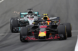 May 13, 2018 - Barcelona, Spain - Max Verstappen, team Red Bull, and Lewis Hamilton, team Mercedes, during the GP Spain F1, on 13th May 2018 in Barcelona, Spain. (Credit Image: © Joan Valls/NurPhoto via ZUMA Press)