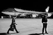 L' Air Force One in un piazzale dell'Aeroporto Leonardo Da Vinci. Fiumicino, Roma, 26 marzo 2014. Christian Mantuano / OneShot