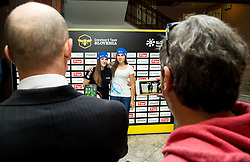 during official presentation of the outfits of the Slovenian Ski Teams before new season 2015/16, on October 6, 2015 in Kulinarika Jezersek, Sora, Slovenia. Photo by Vid Ponikvar / Sportida