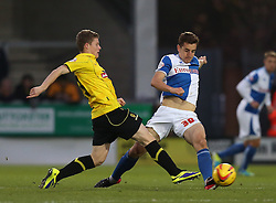 Bristol Rovers' Tom Lockyer battles with Burton Albion's Matthew Palmer- Photo mandatory by-line: Matt Bunn/JMP - Tel: Mobile: 07966 386802 23/11/2013 - SPORT - Football - Burton - Pirelli Stadium - Burton Albion v Bristol Rovers - Sky Bet League Two