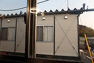 Temporary housing complex in Ishinomaki, Japan.