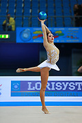 Carmen Crescenzi during an exhibition in Pesaro World Cup 11 April 2015.