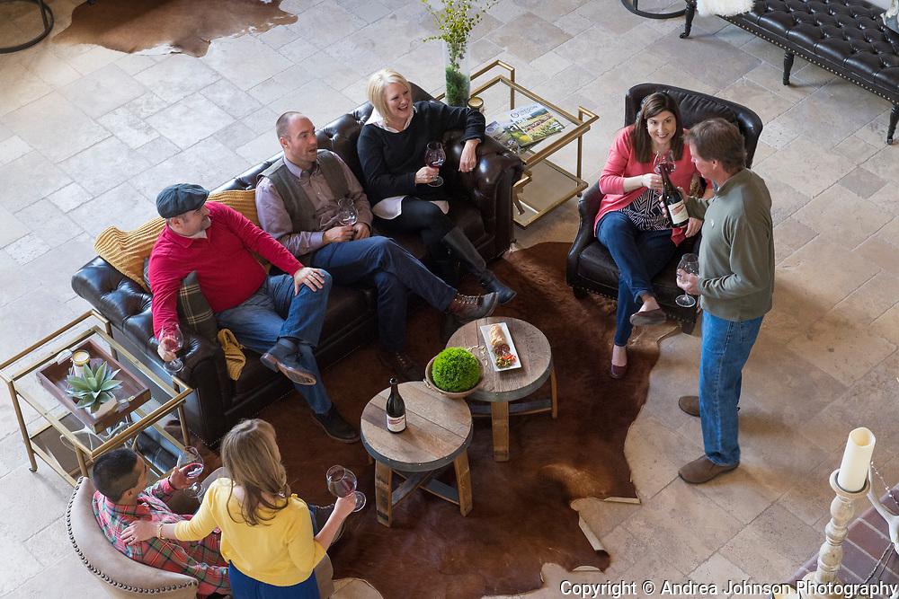 Wine tasting, Beacon Hills Winery & Vineyard, Yamhill AVA, Willamette Valley, Oregon