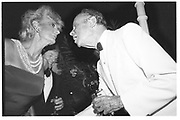 Pat Buckley and Bert Whitley. Malcolm Forbes birthday party. Tangier. 1989.© Copyright Photograph by Dafydd Jones 66 Stockwell Park Rd. London SW9 0DA Tel 020 7733 0108 www.dafjones.com
