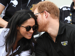 Prince Harry and Meghan Markle attend the Wheelchair Tennis at the Invictus Games in Nathan Square, Toronto, Ontario, Canada, on the 25th September 2017. 25 Sep 2017 Pictured: Prince Harry and Meghan Markle attend the Wheelchair Tennis at the Invictus Games in Nathan Square, Toronto, Ontario, Canada, on the 25th September 2017. Picture by James Whatling. Photo credit: James Whatling / MEGA TheMegaAgency.com +1 888 505 6342