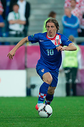 10.06.2012, Staedtisches Stadion, Posen, POL, UEFA EURO 2012, Irland vs Kroatien, Gruppe C, im Bild LUKA MODRIC // during the UEFA Euro 2012 Group C Match between Ireland and Croatia at the Municipal Stadium Poznan, Poland on 2012/06/10. EXPA Pictures © 2012, PhotoCredit: EXPA/ Newspix/ Jakub Kaczmarczyk..***** ATTENTION - for AUT, SLO, CRO, SRB, SUI and SWE only *****