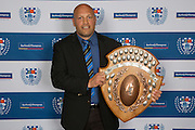 The Southland Shield is awarded to the club with the best average championship points over the U20, U21 & Restricted 85 grades.  The winner with 45.0 points is Ponsonby. Accepting on behalf of the Club is their Director of Rugby - Nathan Kemp.  Auckland Rugby Union Awards 2016, Eden Park, Auckland, New Zealand on Wednesday, October 26, 2016. Copyright photo: David Rowland / www.photosport.nz