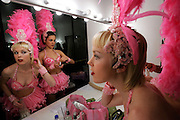 Performers getting ready backstage at The Marrickville RSL in Sydney, 2006.
