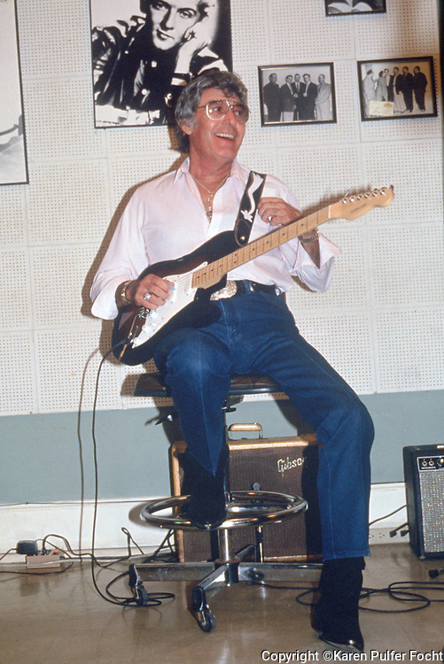 Singer songwriter Carl Perkins plays at Sun Studio during a recording session in the early 90's. © Karen Pulfer Focht-ALL RIGHTS RESERVED-NOT FOR USE WITHOUT WRITTEN PERMISSION