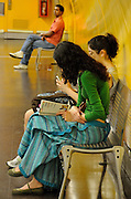 Madrid Subway, waiting for the train