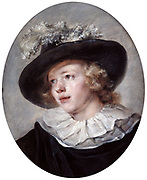 Portrait of a Young Man': Jean-Honore Fragonard (1732-1806) French painter. OIl on canvas.