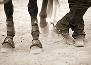 """COWBOY RODEO-TOOLS OF THE COWBOY TRADE--A cowboy and his horse at the annual Ranch Hand Rodeo in Randolph, Utah, August 29, 2009. Workers from various ranches in the region battle for bragging rights in the event many call one of the few """"true cowboy"""" experiences left in the west."""