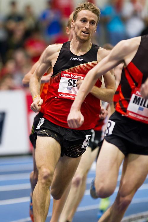 New Balance Indoor Grand Prix track meet: Men's Mile. Jeff See