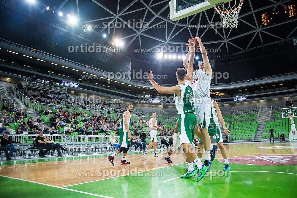 Basketball match between KK Union Olimpija Ljubljana and KK Krka in Round #5 of ABA League 2015/16, on October 11, 2015 in Arena Stozice, Ljubljana, Slovenia. Photo by Grega Valancic / Sportida