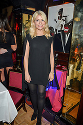 HOLLY WILLOUGHBY at an exclusive performance by Mark Ronson at Annabel's, Berkeley Square, London on 2nd March 2016.
