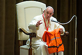 Pope Francis meets the Children's Train