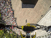 Anthony Murray performs at the Red Bull X-Fighters Teaser Jump at Chapultepec Park in Mexico City on March 1th 2015