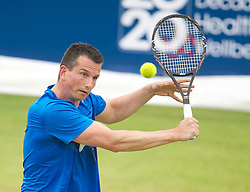LIVERPOOL, ENGLAND - Thursday, June 21, 2012: Richard Krajicek (NED) during the opening day of the Medicash Liverpool International Tennis Tournament at Calderstones Park. (Pic by David Rawcliffe/Propaganda)