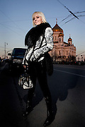 Russian superstar singer Valeriya in Moscow.