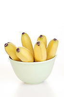 Studio shot of bananas in bowl