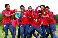 England Under 19s takes part in training ahead of the International Friendlies against Poland and Germany - Mandatory by-line: Robbie Stephenson/JMP - 31/08/2017 - FOOTBALL - England U19 - Training session ahead of international friendlies against Poland and Germany