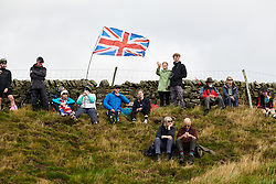 Fans begin to gather on the Lofthouse climb at UCI Road World Championships 2019 Women's Elite Road Race a 149.4 km road race from Bradford to Harrogate, United Kingdom on September 28, 2019. Photo by Sean Robinson/velofocus.com
