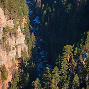 Valley floor below - Oak Creek Canyon, AZ