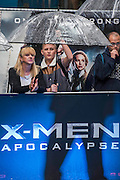 A wet evening - The 'global fan screening' of Twentieth Century Fox's X-Men Apocalypse at the BFI IMAX at Waterloo.