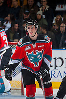 KELOWNA, CANADA - NOVEMBER 26: Konrad Belcourt #5 of the Kelowna Rockets skates against the Regina Pats on November 26, 2016 at Prospera Place in Kelowna, British Columbia, Canada.  (Photo by Marissa Baecker/Shoot the Breeze)  *** Local Caption ***
