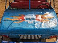 Kiddie car ride in Ciro Redondo, Ciego de Avila, Cuba.