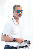 King Felipe VI of Spain arrives at the Royal Nautic Club during the 36th Copa Del Rey Mapfre Sailing Cup on July 32, 2017 in Palma, Spain