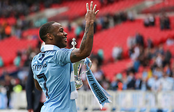 Raheem Sterling of Manchester City with the trophy - Mandatory by-line: Arron Gent/JMP - 18/05/2019 - FOOTBALL - Wembley Stadium - London, England - Manchester City v Watford - Emirates FA Cup Final