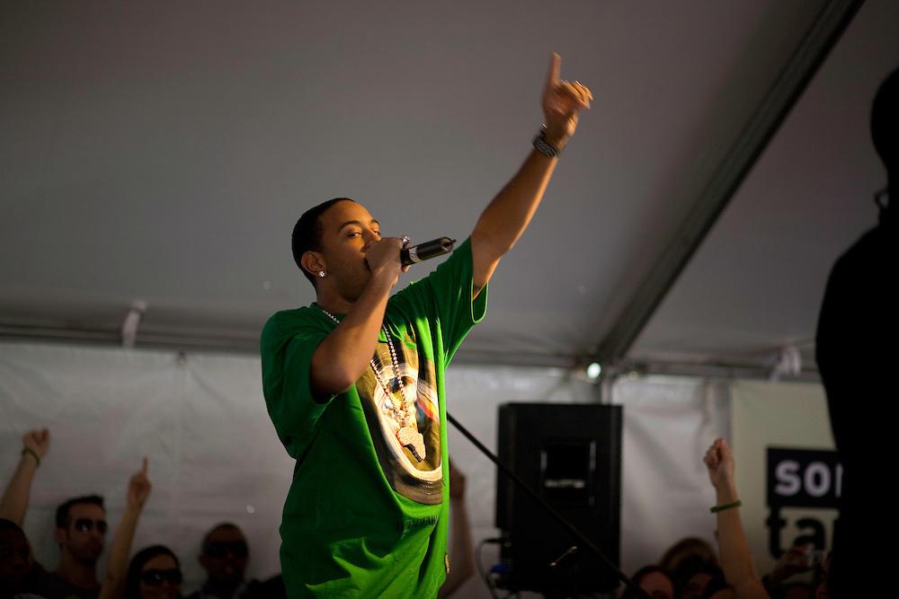 Ludacris performs during the 2008 SXSW music festival in Austin, TX.