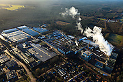Nederland, Gelderland, Gemeente Brummen  20-01-2011. .Eerbeek, papierfabrieken SCA Packaging De Hoop B.V. Paper factory SCA Packaging De Hoop  adjacent to the woods of the Veluwe..luchtfoto (toeslag), aerial photo (additional fee required).copyright foto/photo Siebe Swart