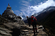 View of Ama Dablam, on the way to the to the Everest Base Camp, Nepal.2007 Nepal 2007. Everest Base Camp